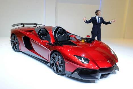 Stephan Winkelmann al Salone dell'Auto di Ginevra  (Foto: Itar-Tass)