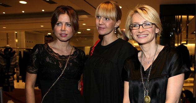 Polina Deripaska, Julia Bordovskih e Evelina Khromchenko (Foto: Ria Novosti)