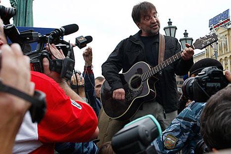 L'idolo russo del rock Yuri Shevciuk (Fonte: Itar-Tass)