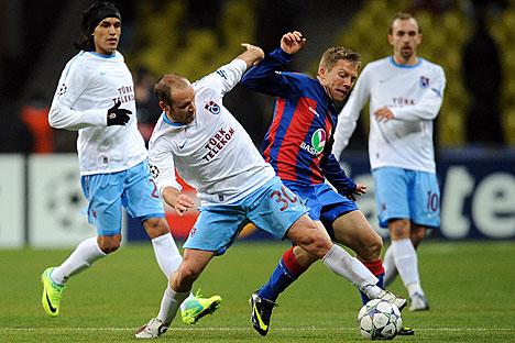 In campo Cska Mosca - Trabzonspor nella terza giornata dei gironi di Champions League 2011 (Foto: Itar-Tass)