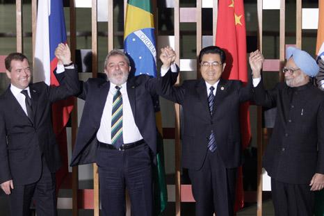 Vier Männer = BRIC (Foto: Reuters/Vostock Photo)