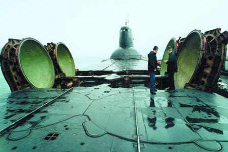 Preparaciones para el lanzamiento de Bulavá. Foto divulgación