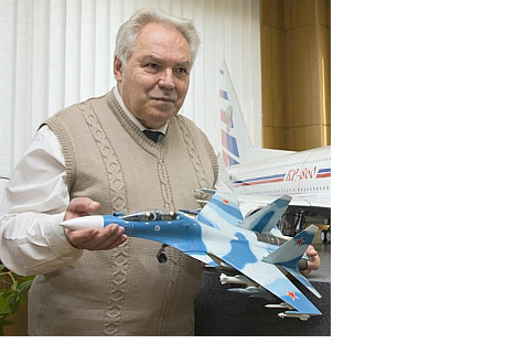 Mikhail Simonov has been developing the Sukhoi family of jets since 1969