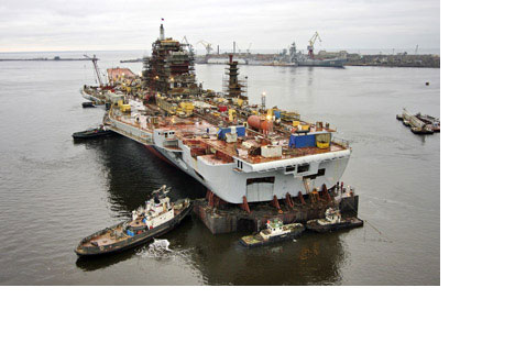Under the revised contract aircraft carrier INS Vikramaditya(Admiral Gorshkov) will be delivered at the end of 2012.