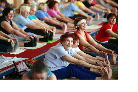 Prohibited during the Soviet era due to its connection withHindu religious practices, yoga is becoming more and morepopular in Russia