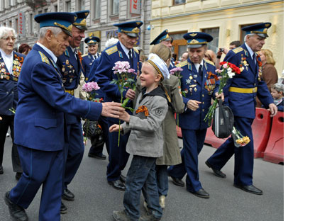 WWII veterans during the Victory Day celebrations