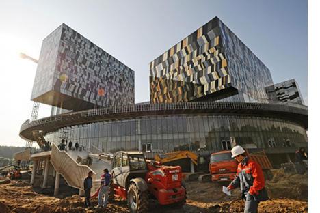 Primeros edificios del nuevo centrode Ciencia y Tecnología en Skolkovo