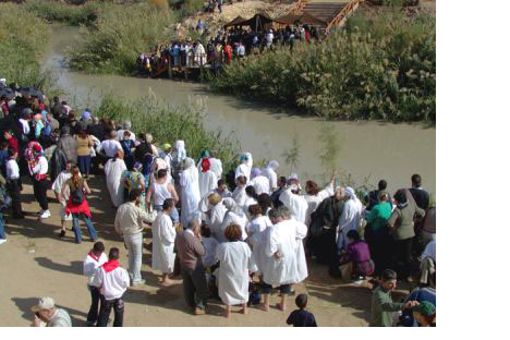 Russians make pilgrimage to the River Jordan whereJesus Christ was baptised by John the Baptist
