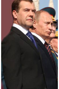 Dmitry Medvedev and VladimirPutin have shown the meritof their political alliance overthe last two years