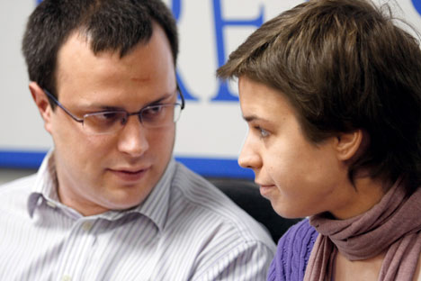 Anna Politkovskaya's children, Vera and Ilya, are committed topromoting democracy in RussiaSource: Svetlana Privalova / Kommersant