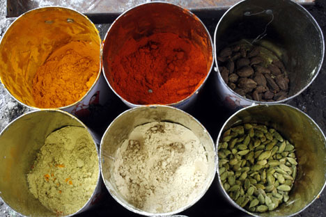Jeeva Ponnuchamy, who came to study in 1990s,now owns three Indian Spices shops in Moscow.