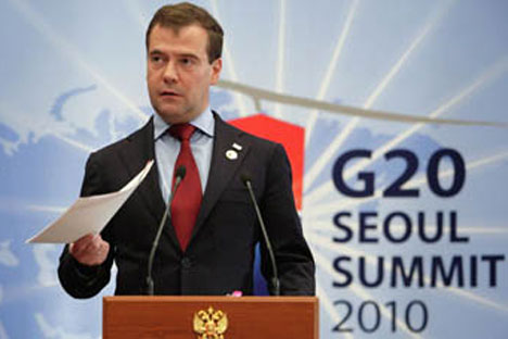 Russian President Dmitry Medvedev.Source: RIA Novosti.