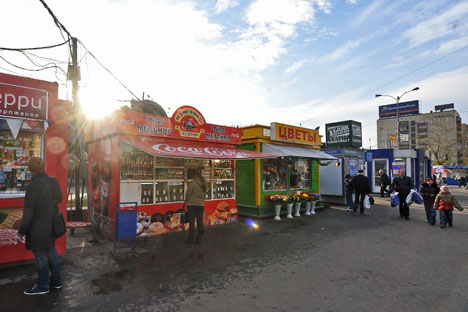 Muscovites have to say goodbye toold good kiosks. Source: ITAR-TASS
