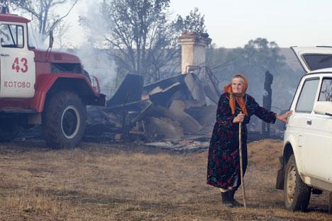 Lapshinskoye village after the firesSource: Dmitry Rogulin, ITAR-TASS
