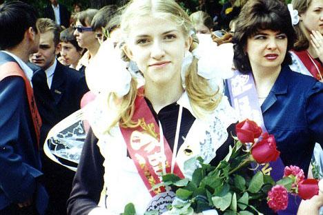 Katia Zatuliveter during her school years