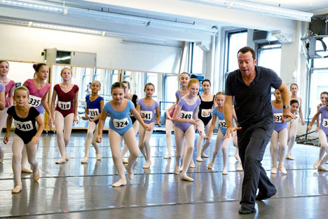"Alexei Ratmansky auditions young girls for American Ballet Theater's ""Nutcracker"" to be performed this month"