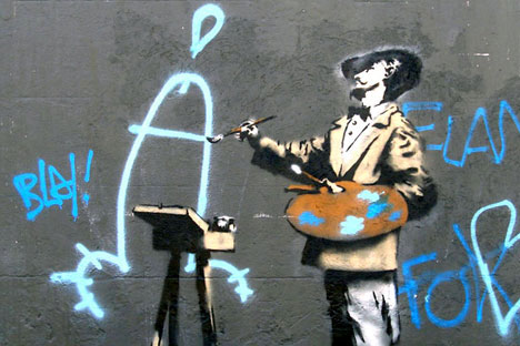 Graffiti art by Banksy. Source: www.banksy.co.uk