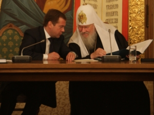 Dmitry Medvedev and Alexy II
