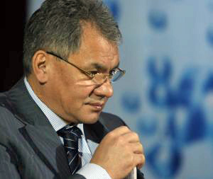 Emergency Minister Sergei Shoigu