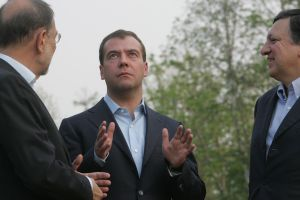 Medvedev, Solana and Barroso in Khabarovsk