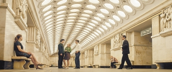 Let there be light: named after the electric light bulb company nearby, Electrozavodskaya - with its six rows of incandescent ceiling lights - is one of the most spectacular and iconic stations of the Moscow Metro