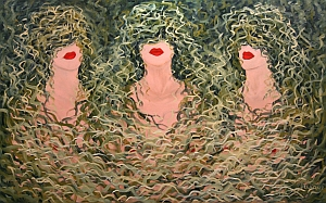 Luba Sterlikova, Three graces II, oil on canvas
