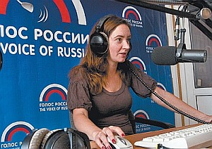 Voice of Russia broadcasts to six continents from its headquarters in downtown Moscow