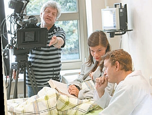 Shooting a scene of the series