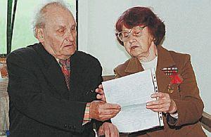 Vasily Kononov maintains an active lifystyledespite his age