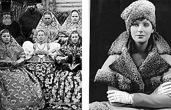 "From Russian ""sarafan"" (left) to elegant ""manto"" a laAnna Karenina: these styles are making a comeback(Greta Garbo, right)"