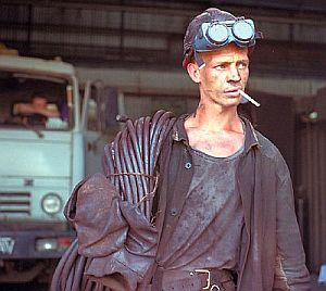 A worker in the steel town of Magnitogorsk, acommunity dependent on a single industry