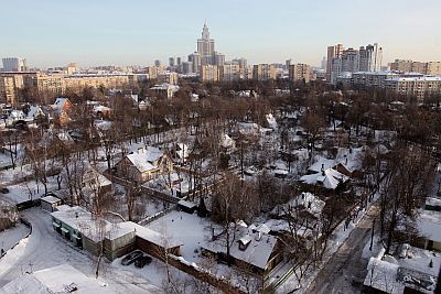 Visitors to Russia's capital find it hard to imagine: Sokolremains a village locked inside a bustling metropolis