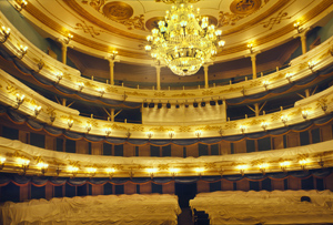 Сity theatre, interior, view towards tiersAll photos by William Brumfield