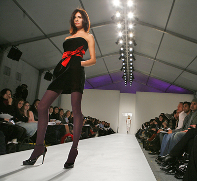 New York: a model presents a piece from the Terexov fallcollection. Source: Reuters/Vostock photo