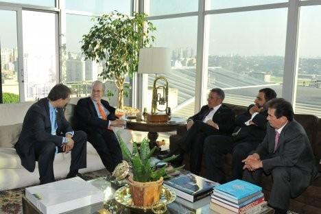 Foto: Encontro de Minnikhánov com presidente do Brasilinvest. Rinát Sáfin da assessoria de imprensa do presidente do Tatarstan