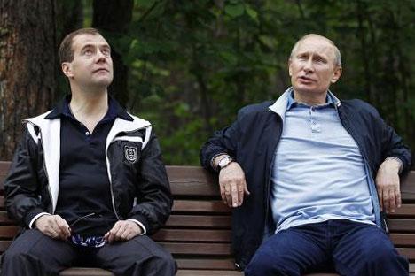 Medvédev es visto como un demócrata modernizador y Putin como un conservador partidario de un gobierno fuerte. Foto de la Agencia Reuters