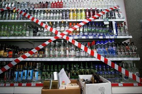 Las principales medidas incluyen un impuesto especial y restricciones para la venta de alcohol en tiendas por la noche para las bebidas de más alta gradación. Fuente/Ria Novosti
