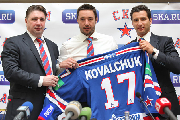 lya Kovalchuk, a Russian ice hockey player and a striker with New Jersey Devils (NHL), will join St. Petersburg's club, SKA. Source: PhotoXPress