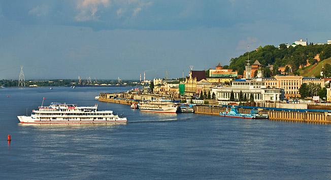 Nizhni Nóvgorod está situado en la confluencia de los ríos Oká y Volga. Fuente: Lori/Legion-Media