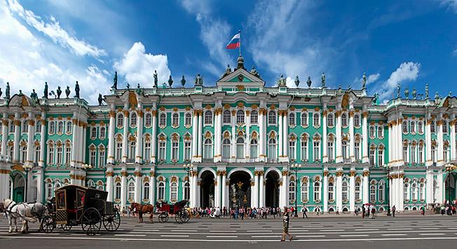 El Museo del Hermitage en San Petersburgo.