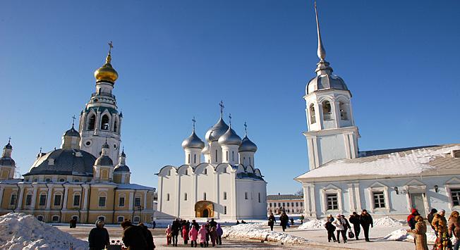 Kremelj v mestu Vologda, administrativnem središču regije.