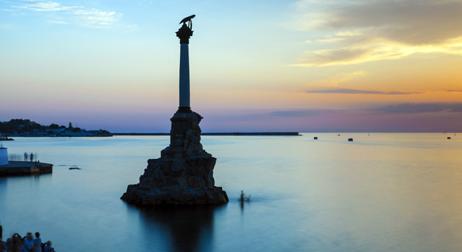 Sevastopol, Crimea, view over Eagle Column.