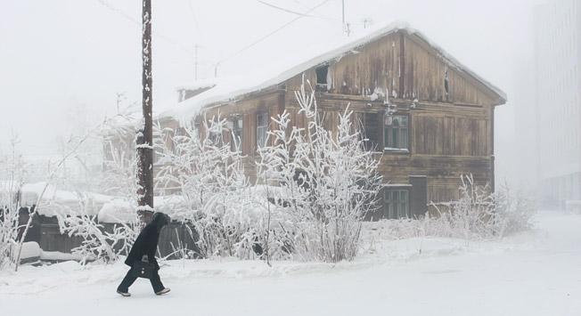 Inverno a Yakutsk.