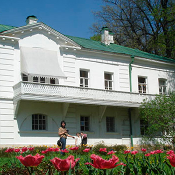 Saturday: Leo Tolstoy's house in his ancestral country estate at Yasnaya Polyana  (124 miles south of Moscow).