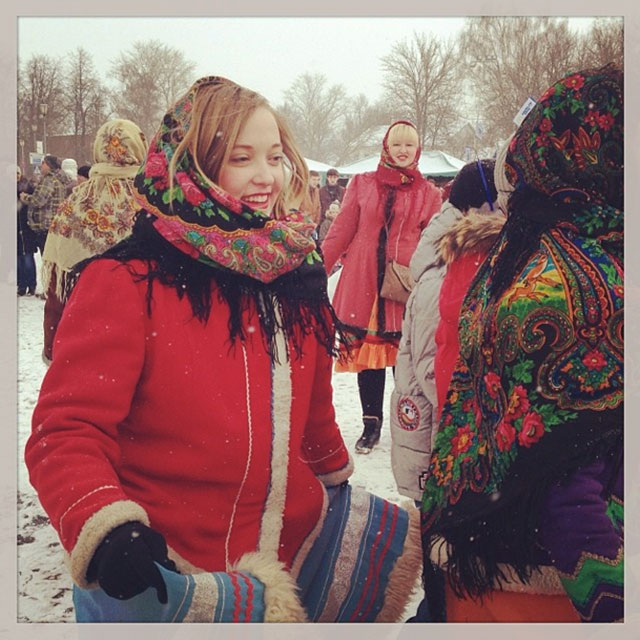 Tuesday.A group of employees from RBTH went to Suzdal where many tourists from around Russia go to celebrate Russian Shrovetide, or Maslenitsa. See goose fights, pancakes, Russian dances, and pillow fightsin our incredible video.