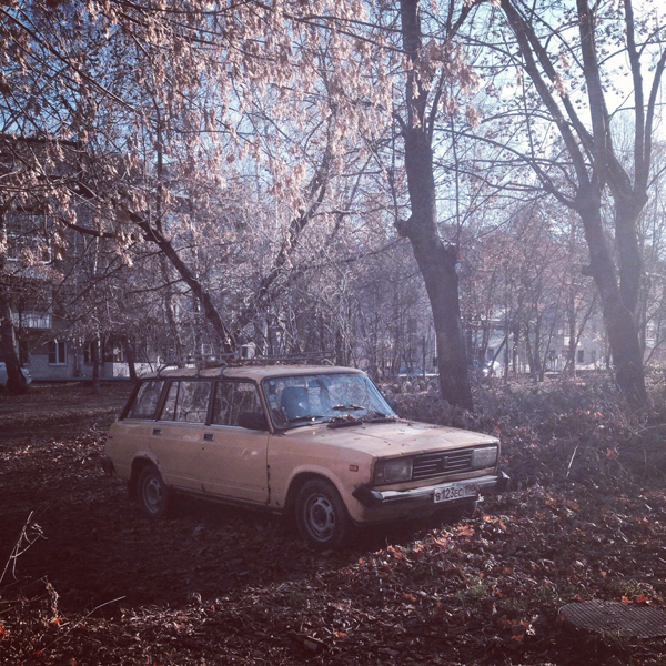Sunday: But an old Soviet car, hidden in the courtyards of the provincial town of Kubinka, Russia, reminds local residents of the Soviet auto industry's one-time prominence.