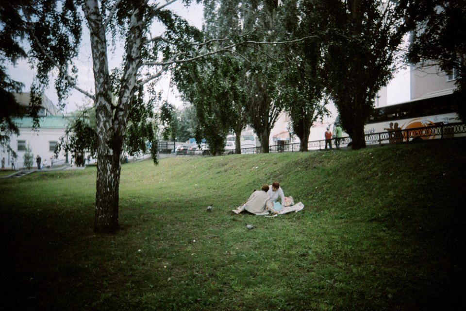 Picnics in the park are a fairly rare sight in Russia's regions, in contrast to Europe.