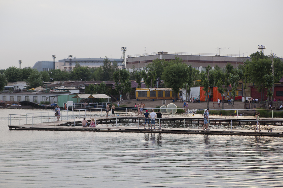 "A general view of Lukomorye Park, located on the banks of the Ural River. It is designated as an ""active recreation zone"" for residents of Magnitogorsk."