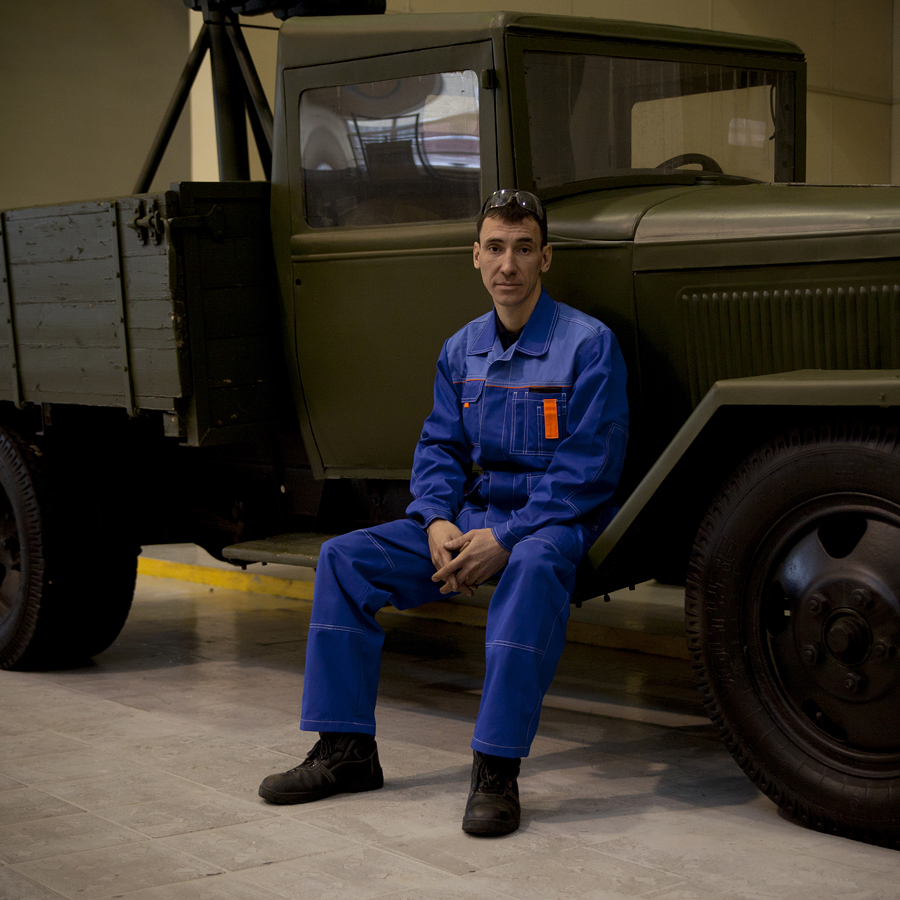 Sergey Tsatevich, 33, tinsmith; currently restoring a Moskvich-407 car