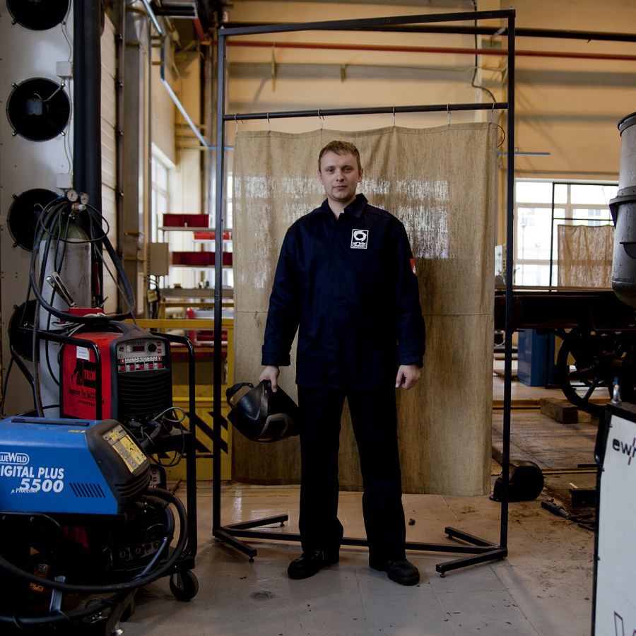 Ivan Gogoliev, 40, electric and gas welder; periodically works on different pieces of equipment